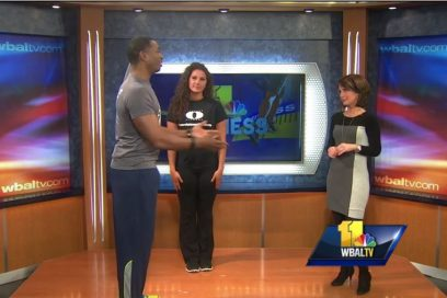 WBAL Fitness Segment, Monte demonstrates workouts you can do at home