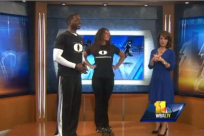 WBAL Fitness Segment, Monte demonstrates toning with weights