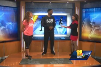 WBAL Fitness Segment, Monte demonstrates exercises for your glutes