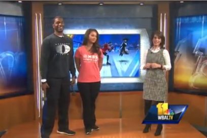 WBAL Fitness Segment, Monte demonstrates at-home workouts