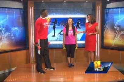 WBAL Fitness Segment, Monte demonstrates ab exercises