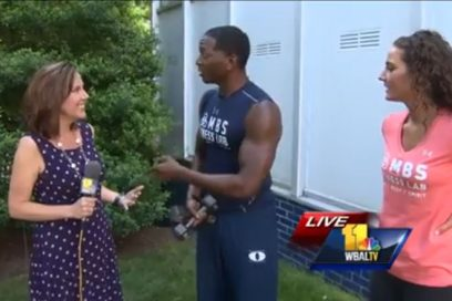 WBAL Fitness Segment, Monte demonstrates cardio, agility and toning