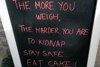 HAHAHA! PUT THE CAKE DOWN!