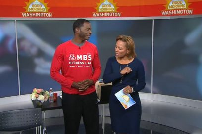 WJLA Good Morning Washington, Monte demonstrates workouts that can be done at your desk at work!