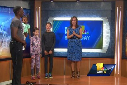 WBAL Fitness Segment, Monte demonstrates exercises for kids for Childhood Obesity Month