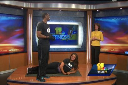 WBAL Fitness Segment, Monte demonstrates how to tone the lower body
