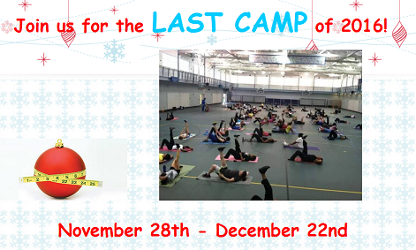 Join us for the Last Camp of 2016