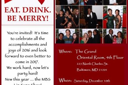 MBS Fitness Lab Holiday Party! November 10, 2016