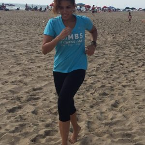 Jogging on beach with MBS Fitness