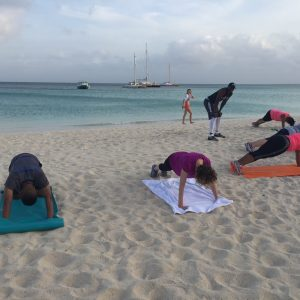 Pushups with fitness trainer Monte Sanders