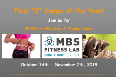 30/30 Cardio/Abs & Toning Camp … Oct. 14th- Nov. 7th